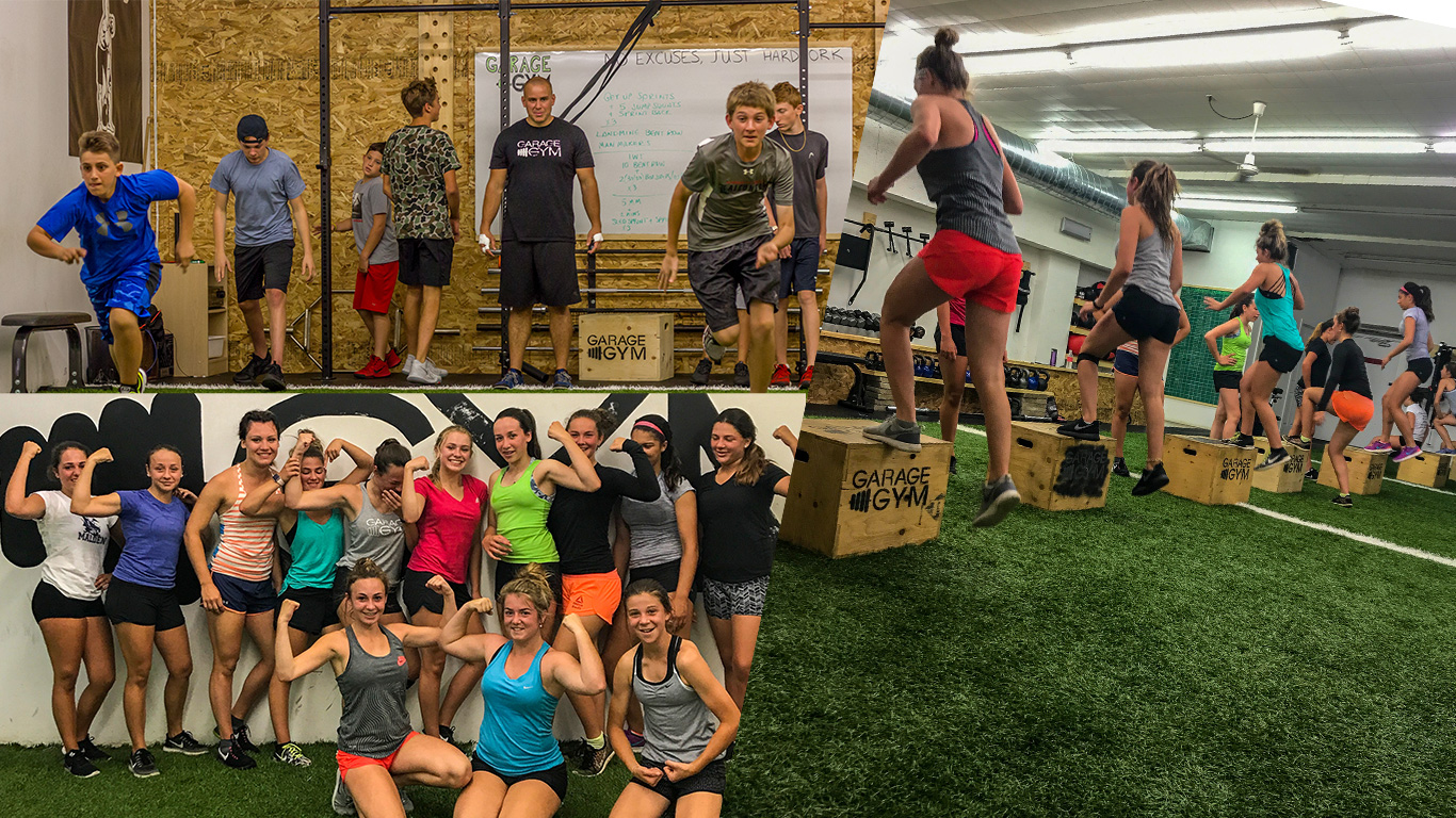 child and teenager fitness and workout classes at the Garage Gym in Amherstburg and Kingsville.